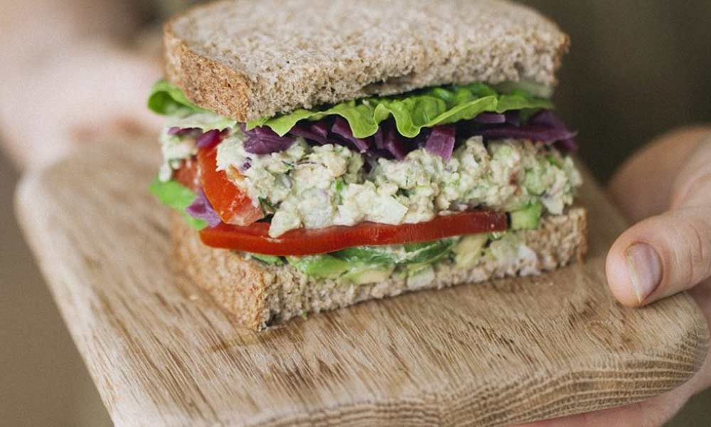 Chickpea 'tuna' sandwiches