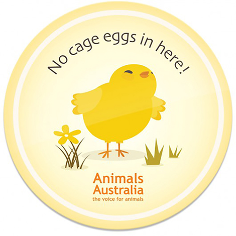 cage egg magnet