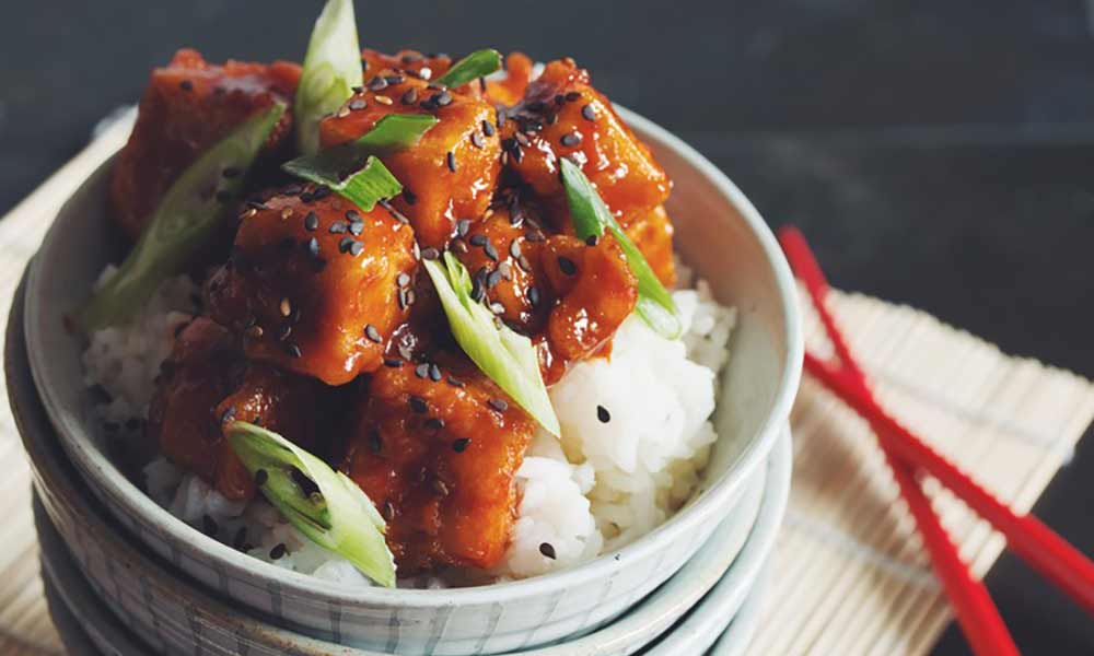 Crispy sweet and sour tofu (GF)
