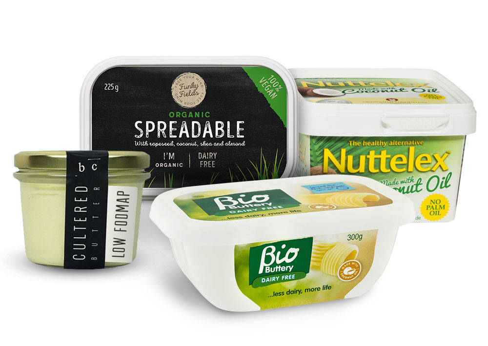 Dairy-free margarine and butter