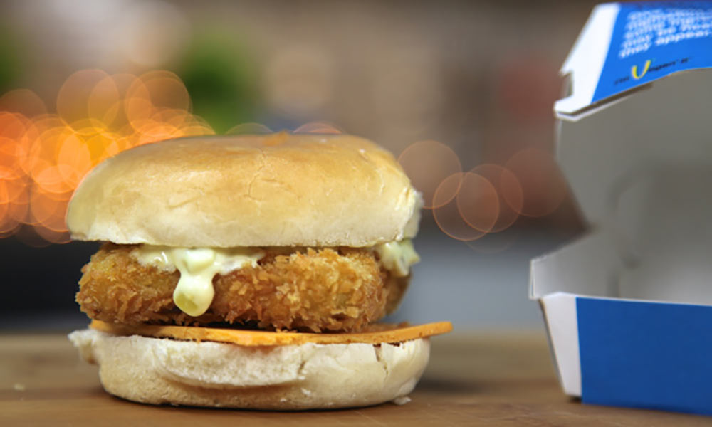 Vegan filet-o-fish