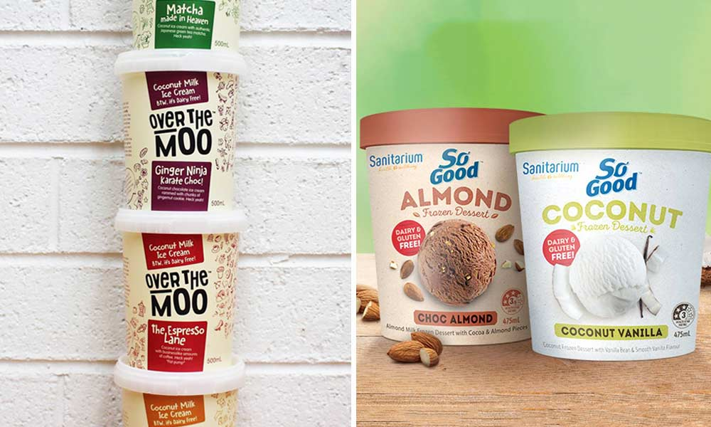 Check the frozen section at your local supermarket. Image left: Facebook/OverTheMoo. Image right: Facebook/SoGoodAustralia