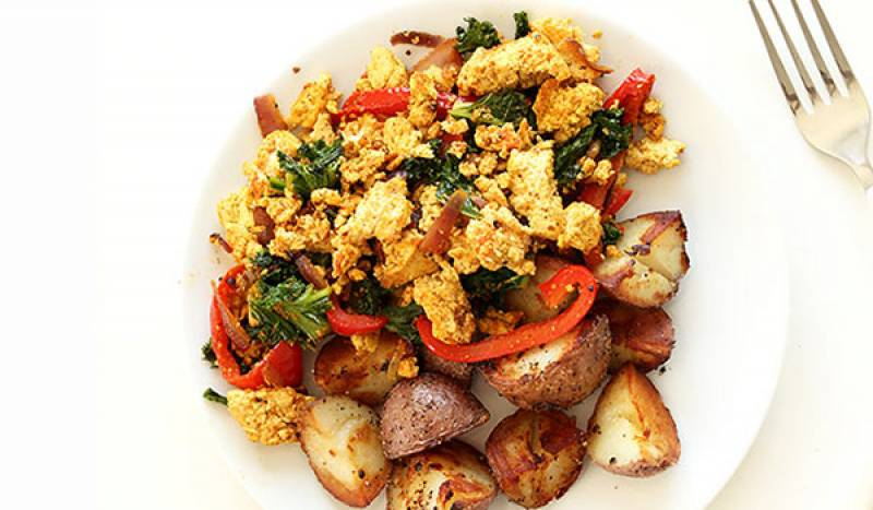 This southwest tofu scramble will hit the spot. Get the recipe here thanks to Minimalist Baker.